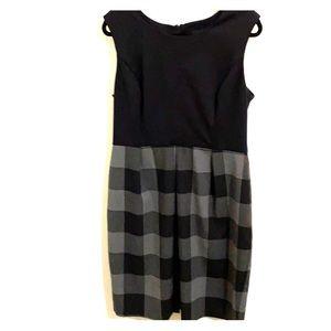 Business Casual Dress Grey & Black